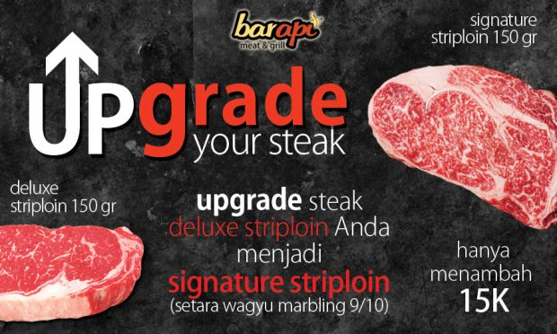 Promo Upgrade Steak Wagyu