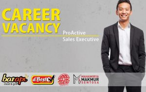 Job Vacancy: Pro-Active Sales Executive (SE)